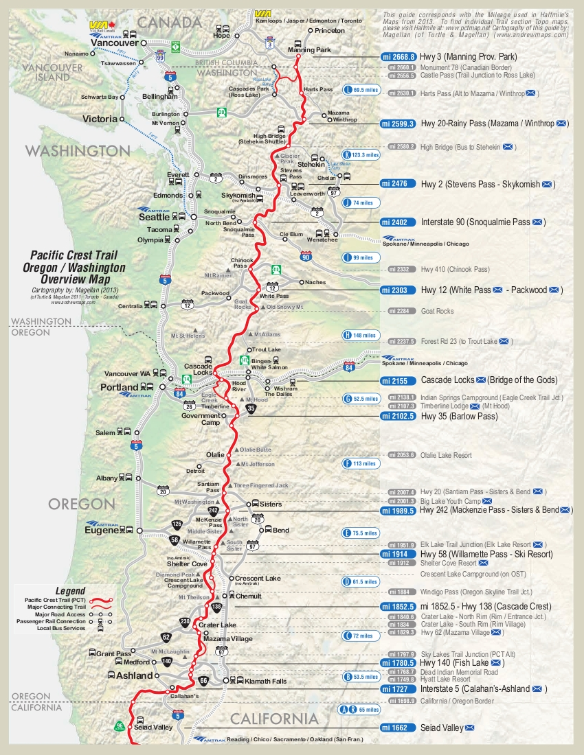 PCT Itinerary  Scott  Marijkes Blog